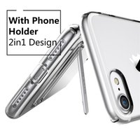 Wholesale Original USAMS Phone Case For iPhone plus Transparent Phone Cover Soft TPU Precise Protection Phone Case With Holder