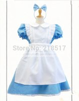 alice in wonderland costume kids - Halloween Adult and kids Maid outfit Costume Dress Snow White Princess Cosplay Costumes Dress Alice In The Wonderland Costume