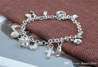Wholesale New silver Bracelet B82 Retail lowest price Fashionable And Hot Sale Christmas gift