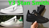 Wholesale 2016 New Superstar Y Super Zip Stan Smith Men and Women White Casual Shoes Leather Flat shoes Fashion Y3 Mens Shoes