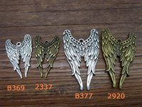 Wholesale 10 Supernatural Castiel Angel Wing Charm Pendants Open Wings charm