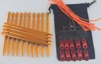 alloy adjuster - OEM Aluminum Alloy Tri cone Shaped Tent Stakes Pegs g Each pack of Come with Aluminum Guyline Cord Adjuster and Pouch Cords