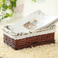 bamboo picnic basket - 2015 NEW PRODUCTS Bamboo Weaving Storage Basket Fruit Rattan Storage Box For Cosmetics tea picnic basket organizer Handiwork