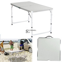 beach dining - 4 Portable Foldable Dining Table for Indoor Outdoor Camp Beach BBQ Party Picnic