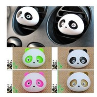 Wholesale 2Pcs random Color Decor Auto Dashboard Air Freshener Blink Panda Perfume Diffuser For Car Liquid sweet and pure and fresh agent