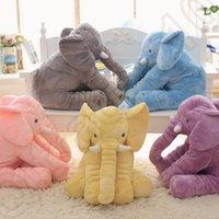 Wholesale Pillow Blanket m Set Elephant Soft Plush Pillow Blankets Animal Stuffed Dolls Toys Cartoon Sofa Bedding Throw Pillow Cushion OOA843