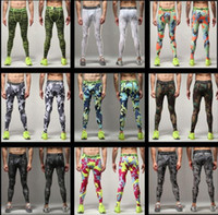 Wholesale Outdoor Riding Pants Men s Compression Tights Pants Quick Drying Pants Running Fitness Riding Pants Breathable Wicking Basketball Training P