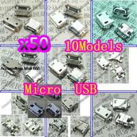 Wholesale kinds Micro USB pin Micro USB Jack Pins Micro USB Connector Tail Charging socket