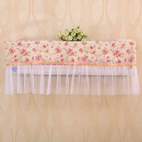 air conditioner dust - 100pcs Convenient Pastoral Style Flower Lace Cloth Dust Proof Cover Hang Air Conditioner Cover Cozy Home Decor ZA0749