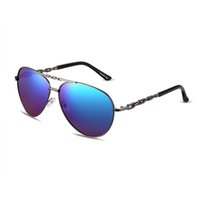 no min order - Fashion High Qualtiy Man Sunglasses Alloy Frame With UV400 Lens Brand Sunglasses Cheap Sunglasses Colors min order YJMH012
