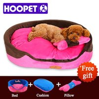 Wholesale HOOPET Small Dog Bed House durable soft Pet sofa Puppy Cat Dog Mat Princess Style Yorkshire poodle pillow three pieces set K