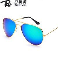acrylic mirror film - 500PCS Sun glasses DHL Free Classic Style Reflective Sun Glasses Color Film Retro Sunglasses Frog Mirror