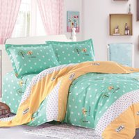 Wholesale 4pcs Set New Hot Selling Elegant Flowers Floral Printed Bed Sheets Comforter Plain Bedlinen Cozy Cotton Bedding Sets