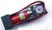 Wholesale SINGLE BARREL CYLINDER AIR INFLATOR FOOT PUMP car bicycle high pressure pipe pump