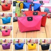 Wholesale 2016 New Solid Color Korean Style Travel Bag Waterproof Makeup Bag Ladies Large Capacity Dot Bag