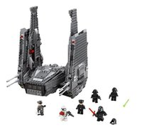 Wholesale Star WarsThe Froce Awakens Kylo Ren s Command Shuttle Model Legoeddily Blocks Kit Kylo Ren Lightsaber Minifigures Lepin LP