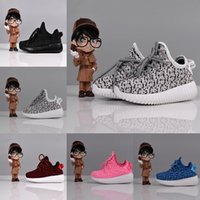 Wholesale Kids Kanye West Boost Girls Running Shoes Boys Basketball Shoes Kids Moonrock Oxford Tan Pirate Sneakers Children Boost sneakers