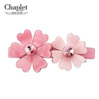 Wholesale Chaplet New High Quality Fashion Flowers Hair Jewelry Women Hair Accessories Barrettes Girls Rhinestone Hair Clips
