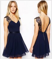 america night clubs - 2016 new summer dress sexy backless chiffon dress in Europe and America Cultivate one s morality skirt with shoulder straps
