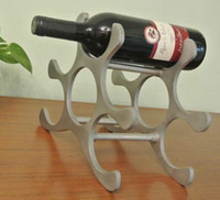 aluminium alloy castings - Cast Aluminium Alloy Wine Rack Modern Art Decor Hold Bottles Silver Polished Metal Wine Bottle Holder Rack EMS