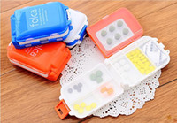 Wholesale Folca Slot Pill Case Medicine Storage Box Compartments Medical Container Storage Case Jewelry Case Easy And Safe plastic case stash best