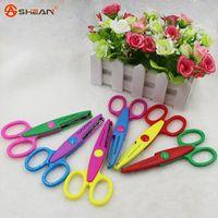 Wholesale Hot Sell Kids Scissors for DIY Handmade Patterns Laciness Scissors for Photo Album Card Decorative DIY Scissors
