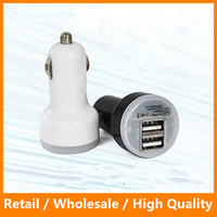 Wholesale Mirco Auto Universal Dual Port USB Car Charger for iPhone6 s Plus sPlus SamsungS6 S6edge S6edgePlus A Fast Mini Car Adapter