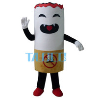 adult pimp costumes - Hot sale Adult Smoke Mascot Costume Cigarette Tobacco Pimp Stick Burn Coffin Nail Halloween