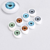 Wholesale Color Oval Hollow Back Plastic Eyes For Doll Mask DIY mm