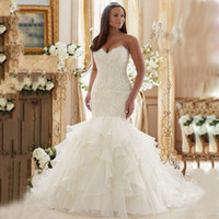 Wholesale Bling Bling Shinny Mermaid Wedding Dress TuTu Skirts Sweetheart Bridal Gowns Elegant charming Sweep Train Lace Up African Wedding Dress