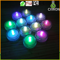 Wholesale LED Submersible Waterproof white Tea Lights led Decoration Candle Wedding Party High Quality Indoor Lighting for fish tank pond set