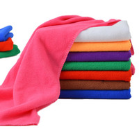 Wholesale 50PCS High Quality Microfiber Cleaning Towel Car Washing Nano Cloth Dishcloth Bathroom Clean Towels Rectangle x70cm