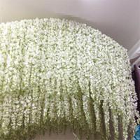 Wholesale 2016 Long Elegant Artificial Silk Flower Wisteria Vine Rattan For Wedding Centerpieces Decorations Bouquet Garland Home Ornament