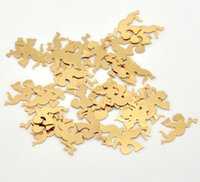 Wholesale Dorabeads Gold Plated Angel Sequins Sewing Card Making Scrapbooking x10mm sold per pack of