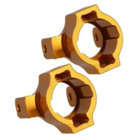 axial parts - 1 Rock Crawler A Alloy Golden Front C Hub Uprights For GPM AXIAL SCX10 ELECTRIC WD model Car Upgrade Parts