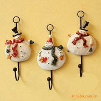 Wholesale Hot Selling American Creative Snowman Home Decor Linked Wall Hooks Rack Hook For Bags Clothes Coat set