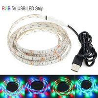 Wholesale RGB LED Light USB V Strip Kit Color Changing with key Controller Waterproof Flexible Stripe leds Per Meter