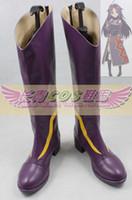 alfheim online - Sword Art Online Alfheim Online Konno Yuuki purple ver cos Cosplay Boots shoes shoe boot CQ089 anime Halloween Christmas