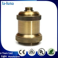aluminium sockets - Hot Sale lamp holder E26 E27 Bulbs Bases Retro Light Socket Vintage Aluminium Lamp Holder Screw Thread Supplies Antique Keyless Home Pendant