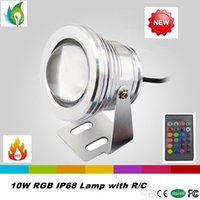 Wholesale Epistar LED Underwater Lamp W RGB IP68 Underwater Lights with V v for Underwater Lighting OED UW W