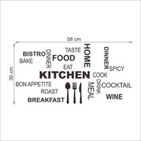 american classic kitchens - Wholeslae x22 quot DIY PVC KITCHEN English Letter Quote Wall Stickers PVC Home Bedroom Waterperoof Removable Wall Decor Wallpaper
