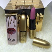 Wholesale Kylie gold pack lipstick matte lasting moisturizing non stick cup of color lip gloss