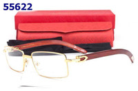 Wholesale Men Designer Rimmed glasses frame Eyeglasses Alloy Gold Wood Glasses Frames fashion women optical spectacle eyewear