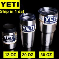 beer supplies - Supply Origianl Yeti Cups Cooler Stainless Steel YETI Rambler Tumbler Cup Car Vehicle Beer Mugs Vacuum Insulated oz oz oz