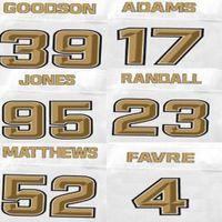 adams drivers - Brett Faver Jersey Clay Matthews Damarious Randall Datone Jones Davante Adams Demetri Goodson Drivers Football Jerseys Pro Line White