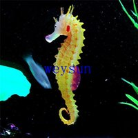 Wholesale Luminous Sea Horse Hippocampus Ornaments Aquarium Artificial Fish Ornaments