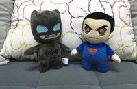 batman statues - Kids Batman Plush Toys Cartoon Stuffed Animals Superman Soft Doll Movie Character Doll high quality