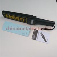 Wholesale Portable Metal Detector Professional Mini Garrett Handheld Metal Detector Super Scanner Super canner with Vibrator Fast Shipping