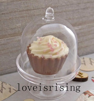 baby cupcake boxes - 20pcs Lovely Mini Clear White Pink Color Cupcake Stand Candy Boxes Wedding Favor Boxes For Baby Shower Party Supplies
