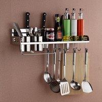 Wholesale Multifunctional dorlink stainless steel kitchen tool holder double cup storage rack spice rack seasoning rack